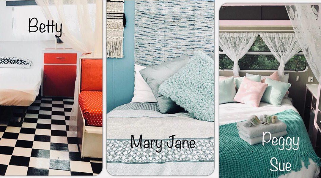 retro glamping and retro glampers at kanasta caravan park. Black Bedroom Furniture Sets. Home Design Ideas