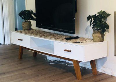 Flatscreen TV in open lounge room
